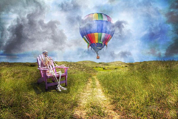 Humans Photograph - Sam Contemplates Ballooning by Betsy Knapp
