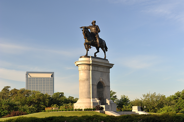 Sam Houston Statue In Hermann Park Photograph by Aimintang