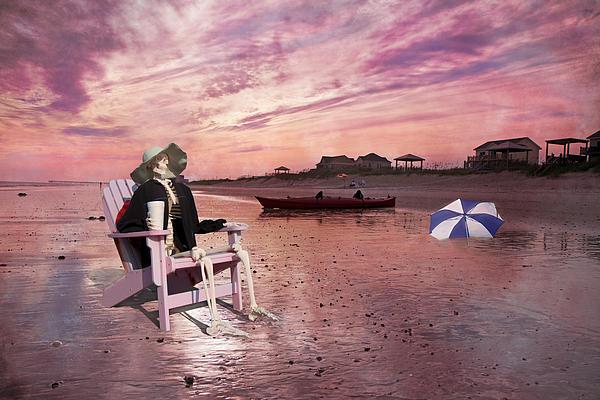 Topsail Digital Art - Sam Takes A Break From Kayaking by Betsy Knapp
