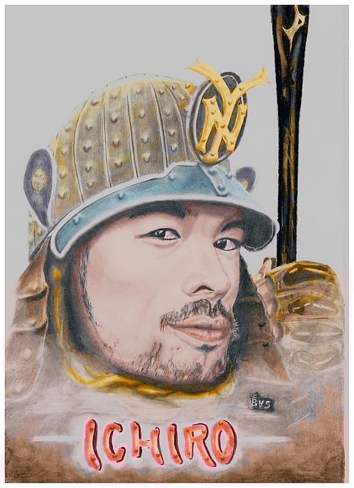 Ichiro Drawing - Samurai Ichiro by Bas Van Sloten