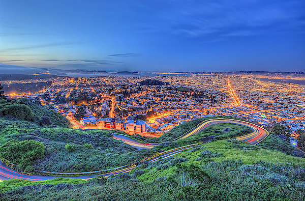 San Francisco At Twilight Photograph by Daniel Chui