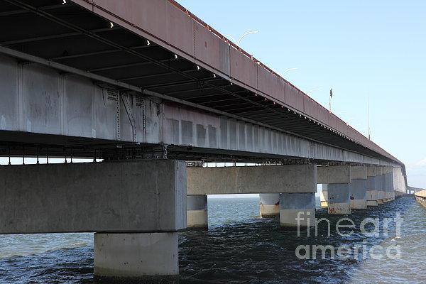 San Mateo Photograph - San Mateo Bridge In The California Bay Area 5d21897 by Wingsdomain Art and Photography