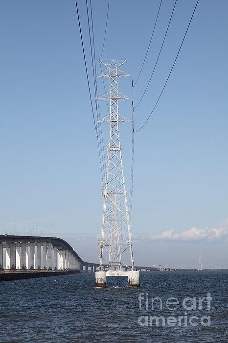 San Mateo Photograph - San Mateo Bridge In The California Bay Area 5d21909 by Wingsdomain Art and Photography