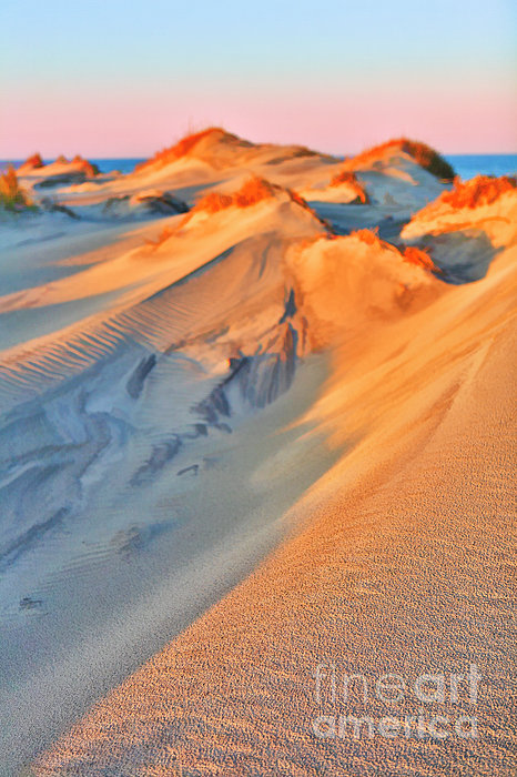 Outer Banks Photograph - Sand Dune Sunset - Outer Banks by Dan Carmichael