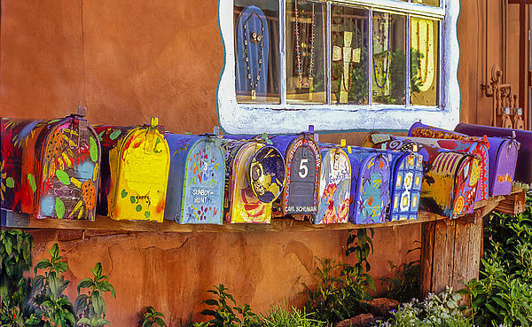 Santa Fe Mailboxes 2 Photograph by Wendell Thompson