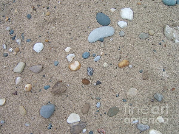 Pebbles Photograph - Scattered Pebbles by Margaret McDermott