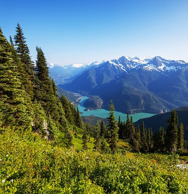 Scenic View Of Diablo Lake And Mountains Photograph by Ingram Publishing