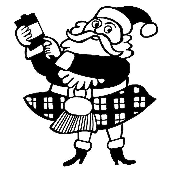 Scottish Santa Drawing by CSA Images
