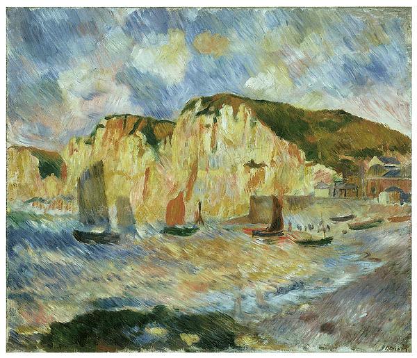 Pierre-auguste Renoir Painting - Sea And Cliffs by Pierre-Auguste Renoir