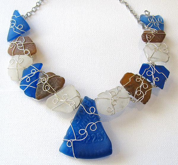 Sea Glass Jewelry - Sea Glass Necklace by Tareen Rayburn