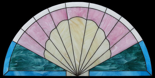 Seashell Glass Art - Seashell-fan Arch by Julie Turner