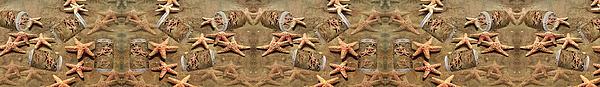 Starfish Digital Art - Seastar Large Banner by Betsy Knapp