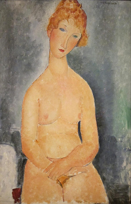 Seated Nude Woman Painting Painting - Seated Nude Woman Painting by