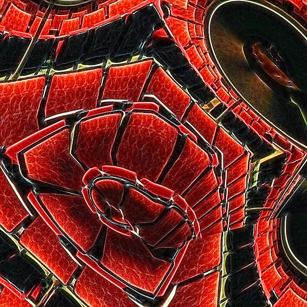 Red Digital Art - Seating Arrangement by Wendy J St Christopher