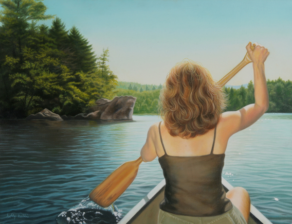 Realistic Painting - Secret Cove by Holly Kallie