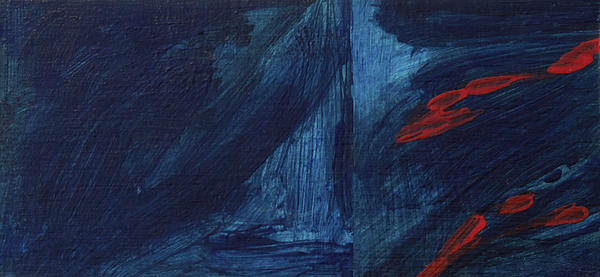 Bleu Rouge Painting - Secret by Hatin Josee