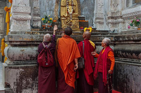 Budhism Photograph - Seeking Blessings Of Budha by Mukesh Srivastava