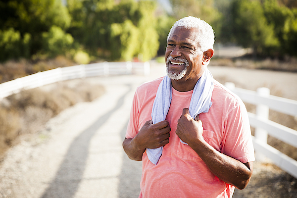 Senior Black Man After Workout Photograph by Adamkaz