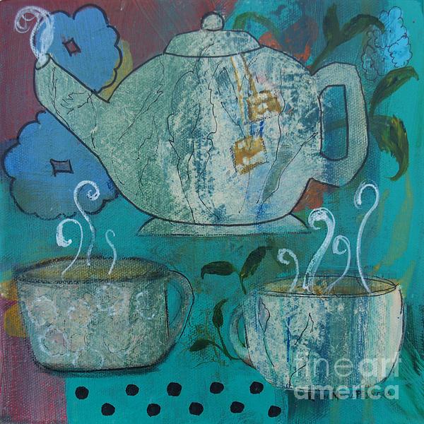 Serene Painting - Serene Tea by Robin Maria Pedrero