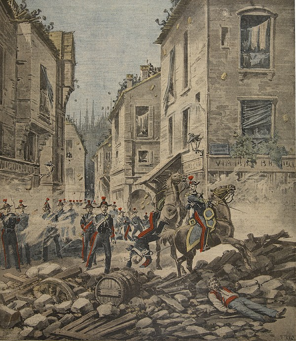 Civil Drawing - Serious Troubles In Italy Riots by French School