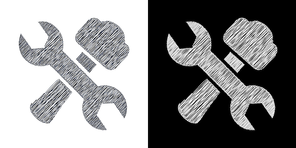 Service Tool In Drawing Icon Drawing by Vectorios2016