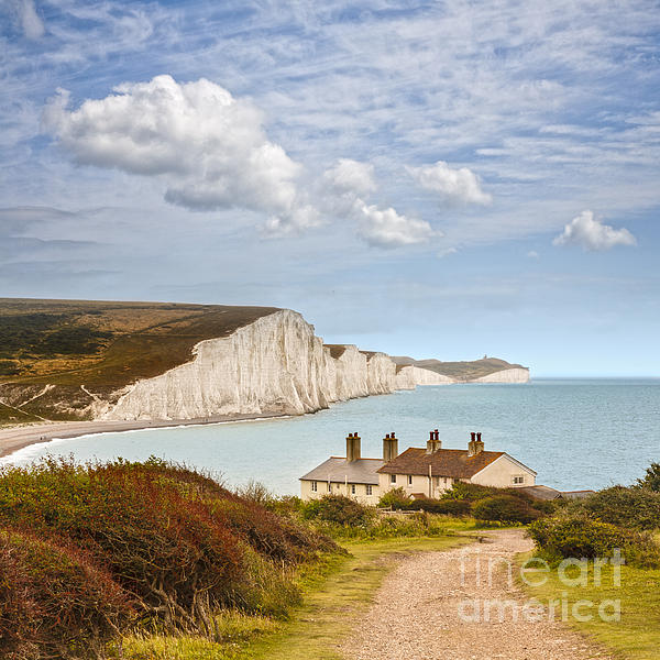 Colour Photograph - Seven Sisters Cuckmere Haven South Downs Sussex by Colin and Linda McKie