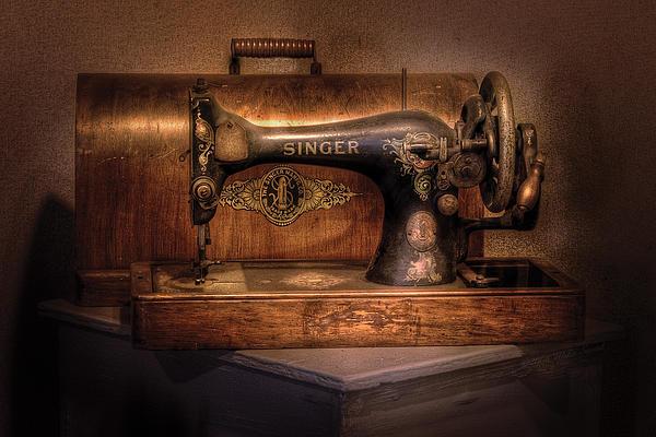 Savad Photograph - Sewing Machine  - Singer  by Mike Savad