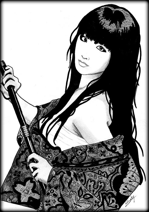 Sexy Painting - Sexy Samurai by Saki Art