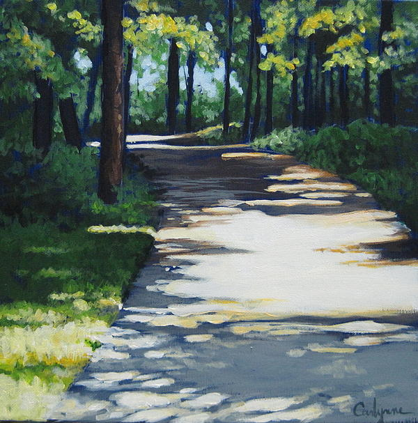 Road Painting - Shadow Path by Carlynne Hershberger