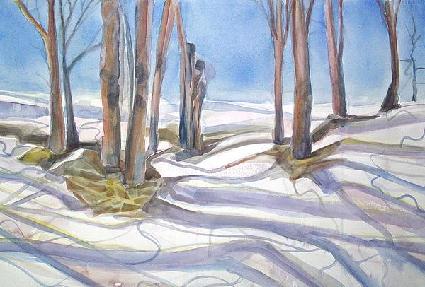 Shadows Painting - Shadowplay by Grace Keown