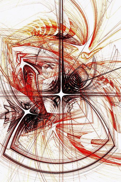 Computer Digital Art - Shapes And Symbols by Anastasiya Malakhova