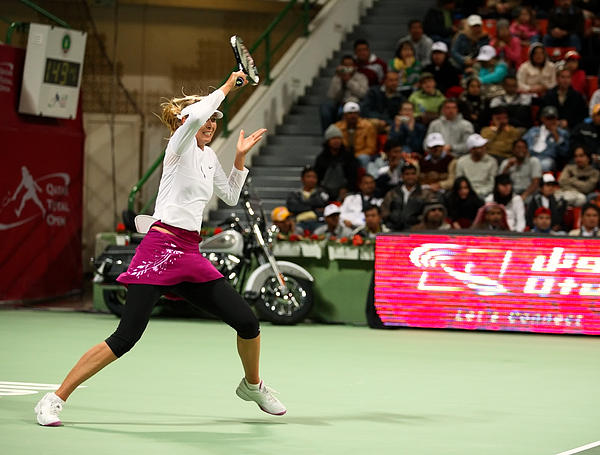 Maria Photograph - Sharapova At Qatar Open by Paul Cowan