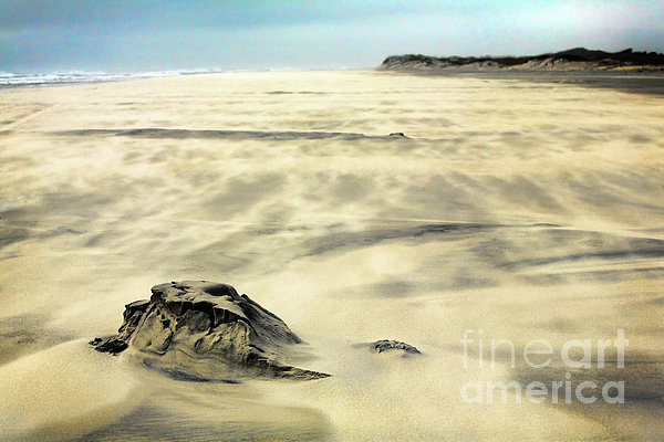 Outer Banks Painting - Shifting Sands On Ocracoke Outer Banks by Dan Carmichael