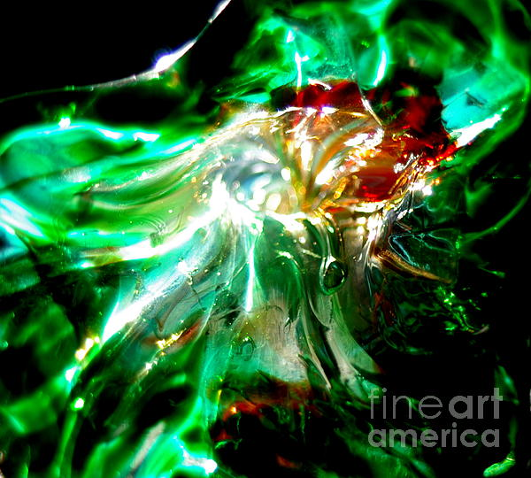 Glass Flower Close-up In Sunlight Photograph - Shining Through The Glass II by Kitrina Arbuckle