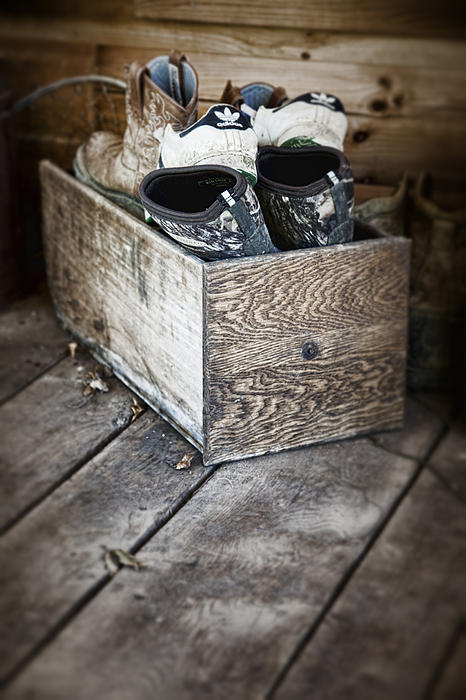 Apparel Photograph - Shoebox Still Life by Tom Mc Nemar