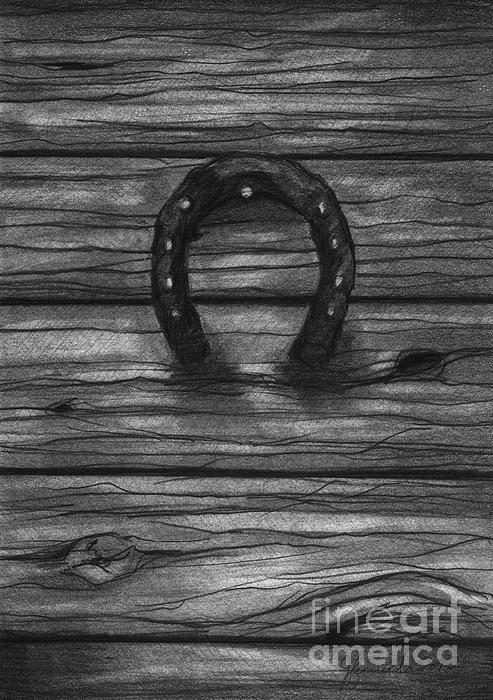 Horse Shoe Drawing - Shoes Of Horses by J Ferwerda