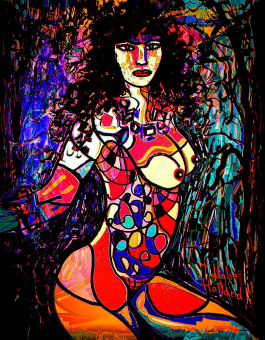 Artistic Nude Mixed Media - Show Off by Natalie Holland