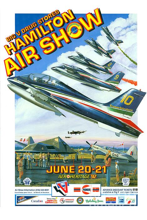 Air Show Painting - Show Time by Michael Swanson