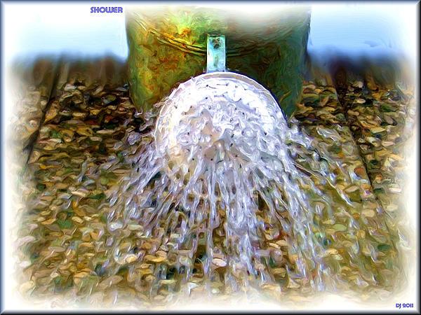 Shower Digital Art - Shower by Daniel Janda