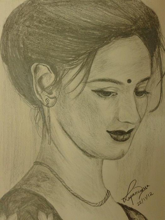 Shy Drawing by Lupamudra Dutta