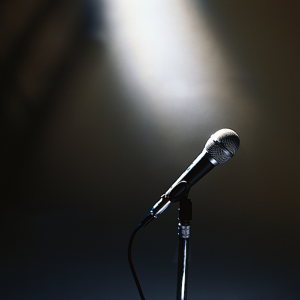 Side Profile Of A Microphone On A Stand Photograph by George Doyle
