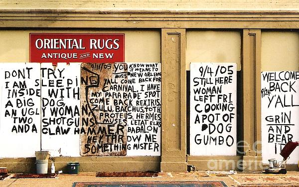 Nola Photograph - Sign Of Distress Post Hurricane Katrina Message by Michael Hoard