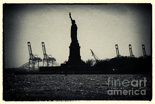 Noir Photograph - Silhouette Of Miss Liberty by Sabine Jacobs