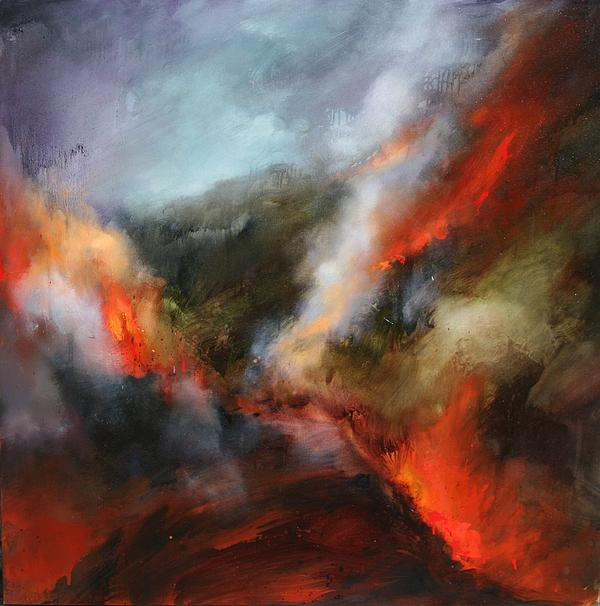 Fire Painting - Simmering Vistas by Lissa Bockrath