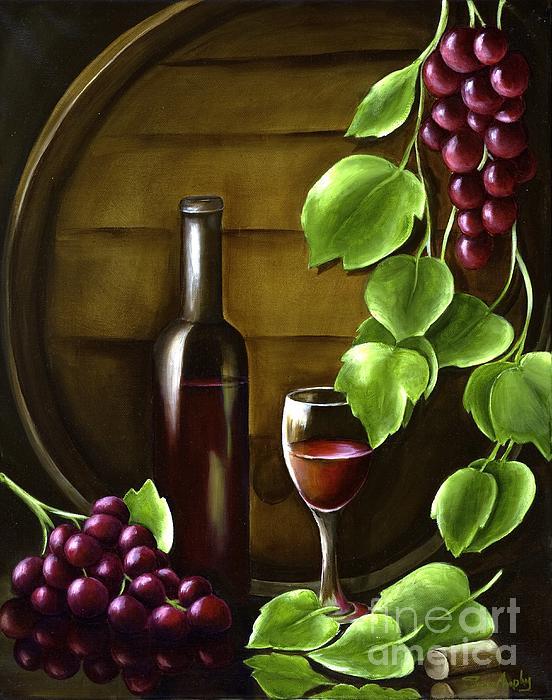 Red Painting - Simple Pleasures by Susan Murphy