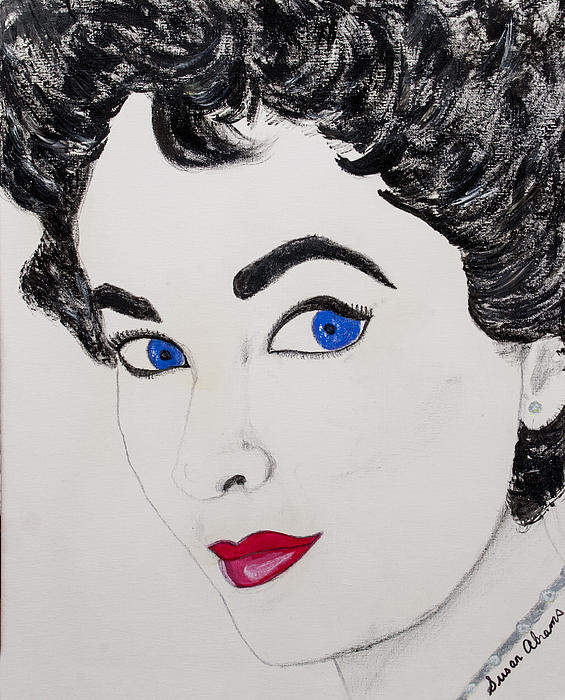 Liz Painting - Simply Liz by Susan Abrams