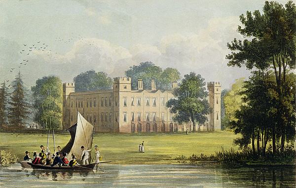 Exterior Drawing - Sion House, From R. Ackermanns by John Gendall