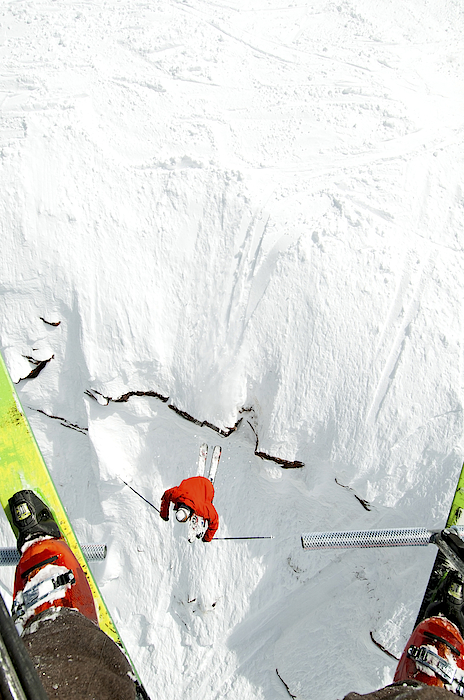 Skier Jumps Off Cliff Under Chairlift Photograph by Connor Walberg