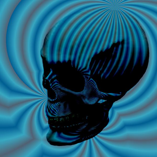 Allegory Digital Art - Skull Aura Blue by Jason Saunders