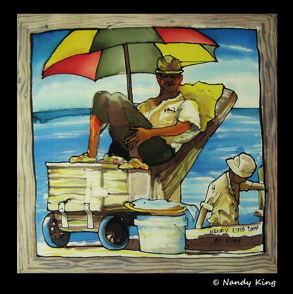 Portrait Painting - Sleepy Fisherman by Nandy King
